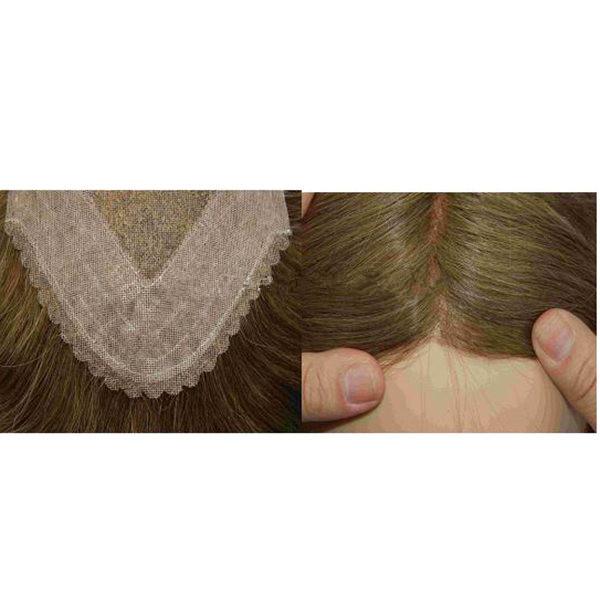 Haarteil mit  Scallop Haaransatz