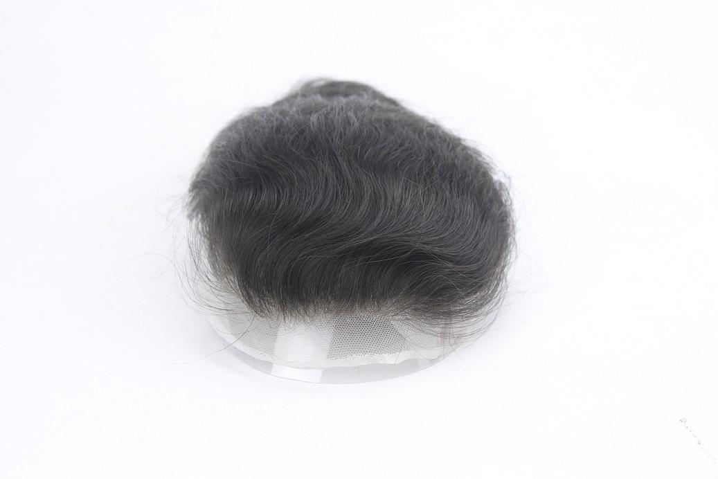 Swiss Lace Toupet mit natürlichen abgestuften unsichtbarem Haaransatz
